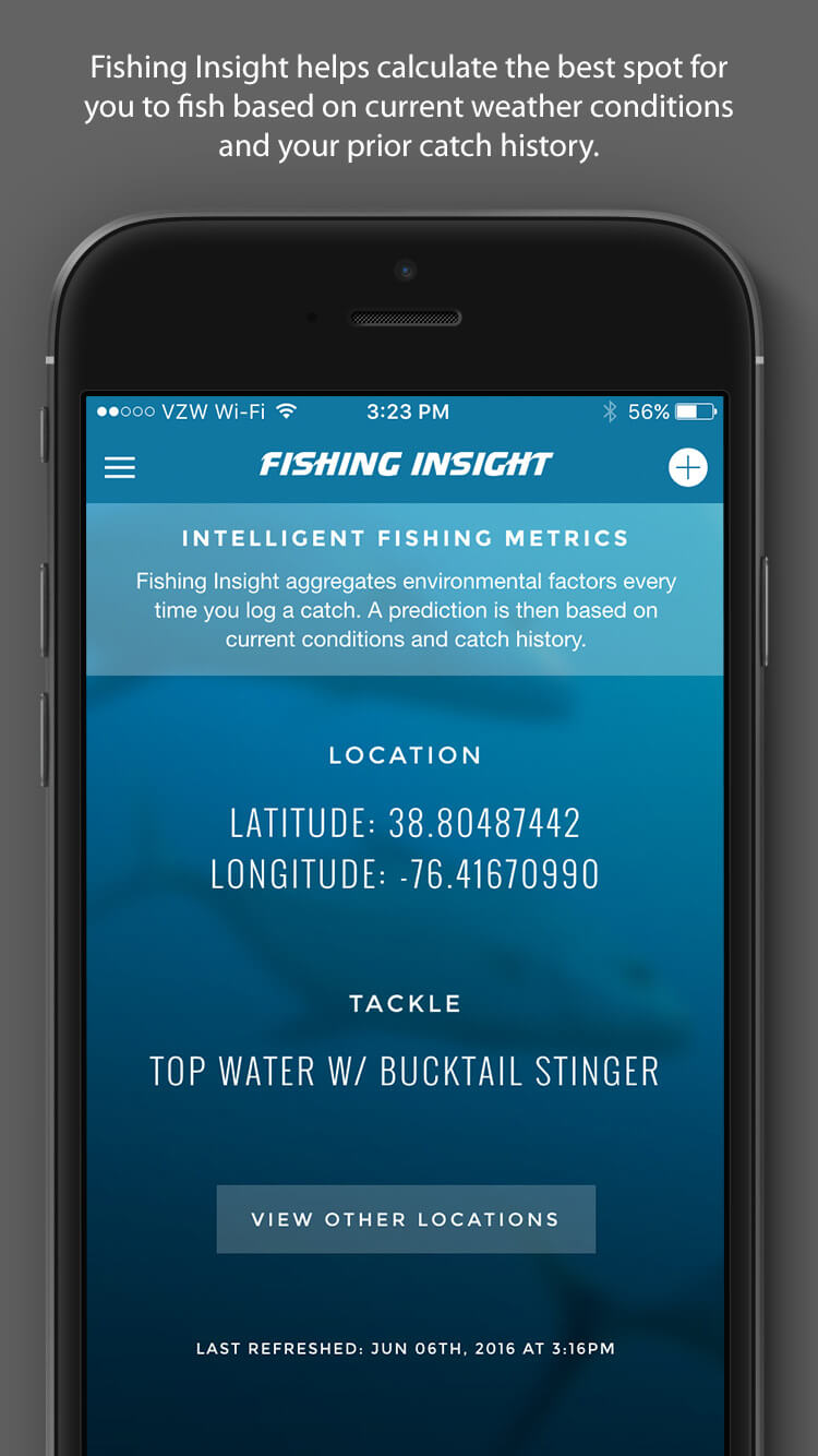 Fishing Insight - Home Screen